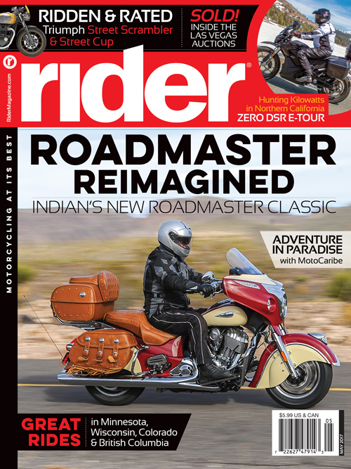 May 2017 Rider Magazine Cover