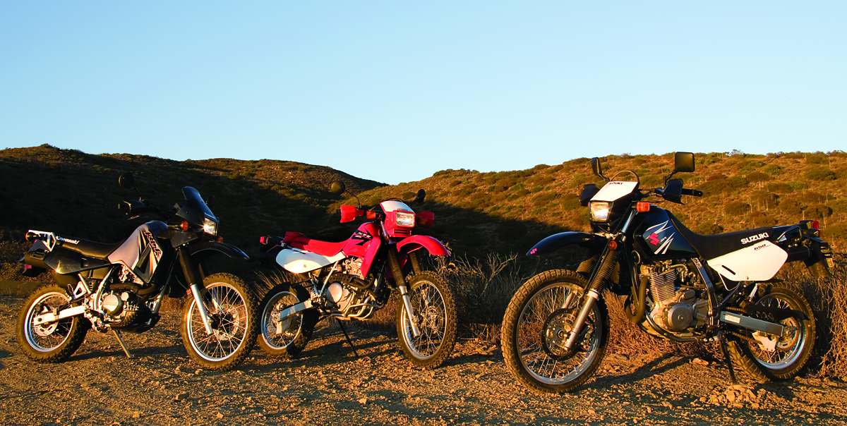2018 honda xr 650. unique 2018 2007 honda xr650l kawasaki klr650 and suzuki dr650s motorcycle comparison   rider magazine and 2018 honda xr 650