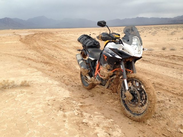 The tire-hugging fender isn't a fan of thick mud and the stock skid plate is inadequate, but 1190-R owners will farkle-out their machines for end-times combat.