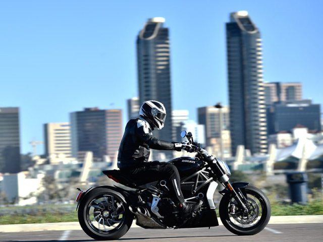 The XDiavel's wide rear tire, long wheelbase and stretched-out steering geometry make it feel ungainly at low speeds.