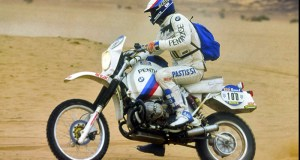 Hubert Auriol rides the R 80 G/S in the Paris-Dakar Rally, 1984. This model and others will be on display at the 2016 Techno Classica, April 6-10, in Essen, Germany. (Photo: BMW)
