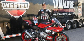MotoAmerica® AMA/FIM North American Road Racing Championship's Superstock 1000 rider Josh Day with his newly liveried Yamaha YZF-R1 race bike. (Photo: Yamaha)