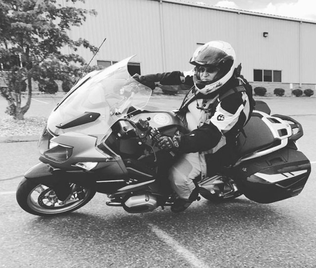 Having some fun in the parking lot before the ride takes off. (Photo: Sisters' Centennial Ride)