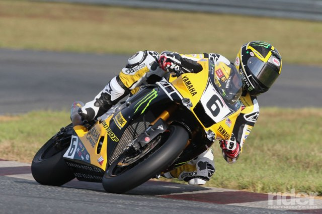 Cameron Beaubier on his championship-winning Yamaha YZF-R1. Fans can enter to win the as-raced bodywork from his motorcycle, autographed by Beaubier himself. (Photo: Yamaha)