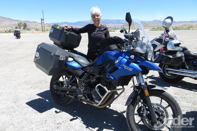 Karen heard about the Sisters' ride 48 hours before it was scheduled to begin. That was all she needed: she made the arrangements, paid the entrance fee and headed to Brooklyn to take part in history. (Photo: the author)