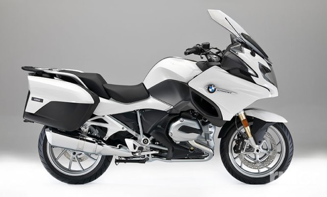 2017 BMW R 1200 RT in Alpine White.