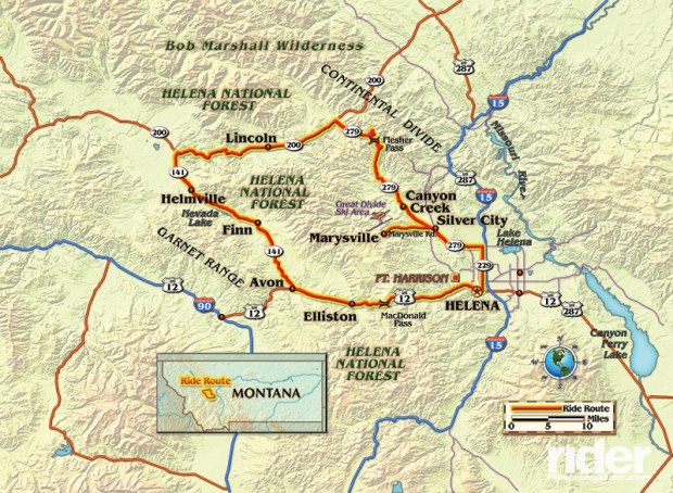 Map of the route taken. By Bill Tipton/compartmaps.com