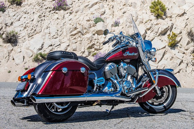 2017 Indian Springfield in Steel Gray over Burgundy Metallic