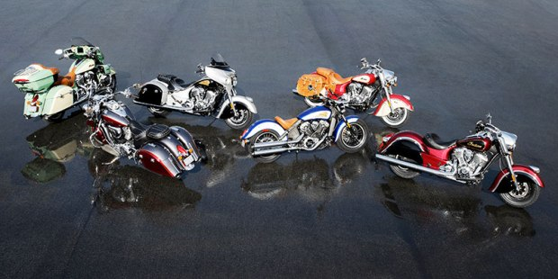 Indian Motorcycle's 2017 lineup includes numerous classic two-tone paint schemes to choose from.