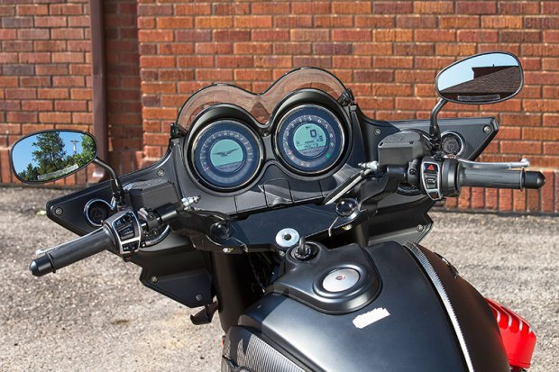 Guzzi's electronic rider aids carry over from the previous California models, though things are a bit more refined this time, as with the single-button cruise control. Still there's somewhat of a learning curve when first setting out.
