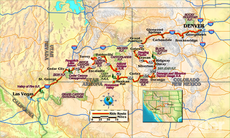 Map Of The Route Taken By Bill Tipton Compartmaps Com