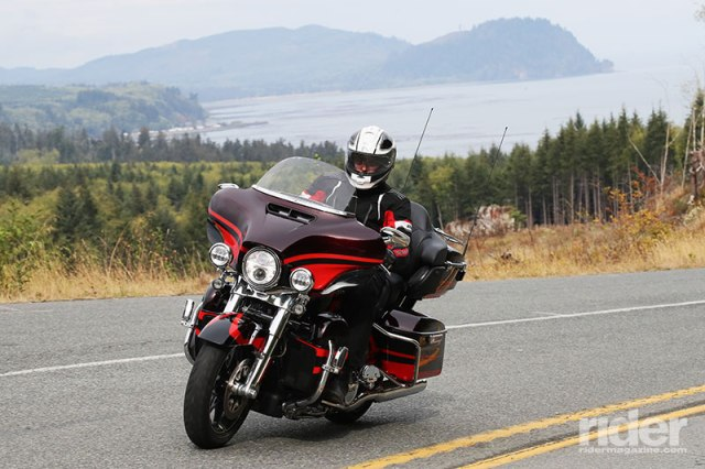 Harley-Davidson's 2017 press launch included a 2-day, 400-mile test ride around Washington State's Olympic Peninsula. This photo of the CVO Ultra Limited was taken on the Strait of Juan de Fuca Scenic Byway.