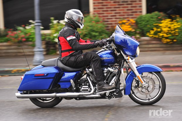 A new counterbalancer in the Milwaukee-Eight reduces vibration at idle by 75 percent, and a redesigned exhaust moves heat away from the rider and passenger.