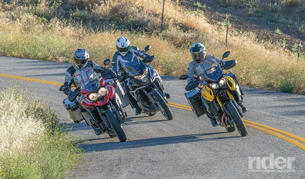 This trio of 1,200cc, shaft-driven, 600-plus-pound adventure bikes can take you almost anywhere you want to go, within reason. (Photos: Kevin Wing)
