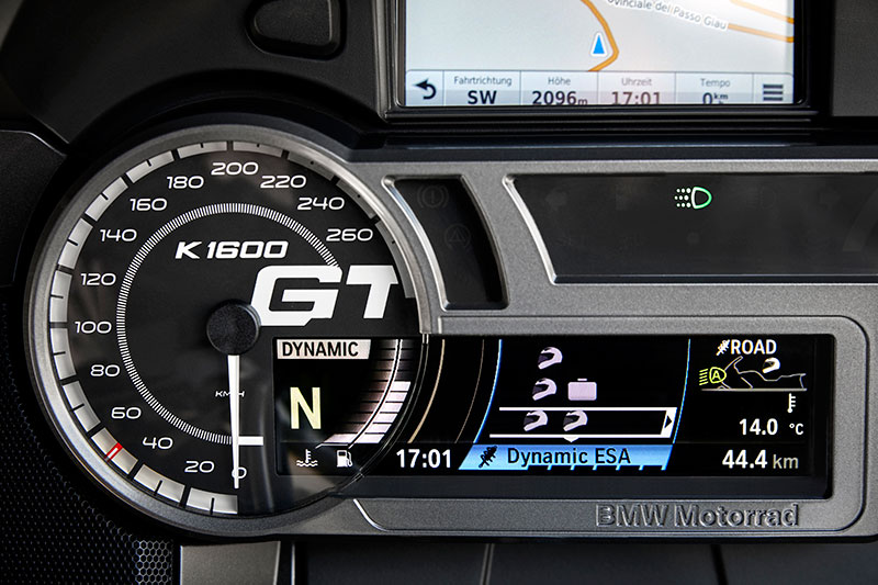 2018 bmw k1600gtl exclusive. fine k1600gtl the k 1600 gtu0027s restyled instrument panel features a prominent model logo  on the speedometer inside 2018 bmw k1600gtl exclusive