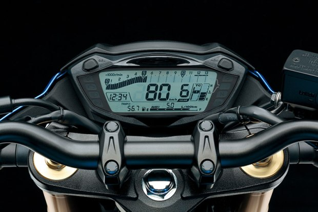 Suzuki's GSX-S750/Z features an all-digital instrument panel.