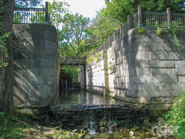 An original lock at Side Cut Metropark in Maumee, Ohio.