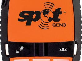The Spot Gen3 is a rugged, waterproof device that comes with a velcro strap and carabiner for attaching it to your jacket or backpack.