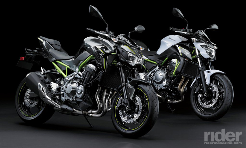 The 2017 Kawasaki Z900 ABS Left And Its Smaller Sibling Z650