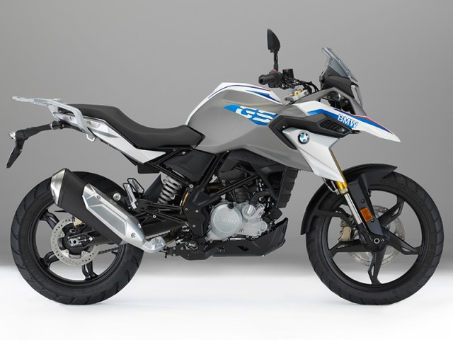 The 2017 BMW G 310 GS has a 19-inch front and 17-inch rear wheel and 7.1 inches of front/rear suspension travel.