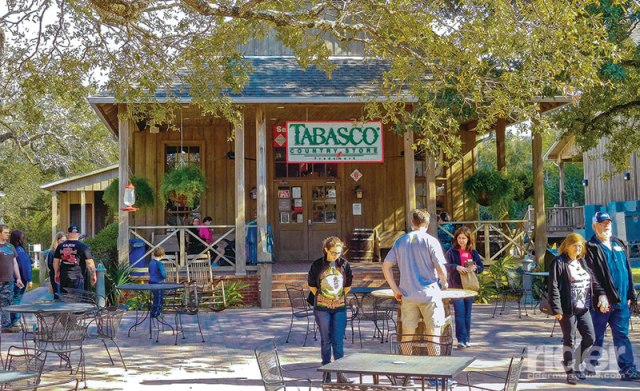Touring the Tabasco hot sauce factory in Avery Island, Louisiana.