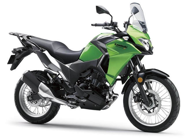 The new-for-2017 Kawasaki Versys-X is powered by the 296cc parallel twin from the Ninja 300.
