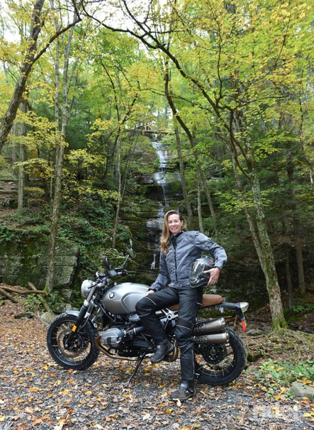 The author is all smiles as we pause for a break at Buttermilk Falls. (Photo: Jon Beck)