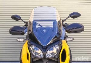 Stock Yamaha Super Tenere windscreen.