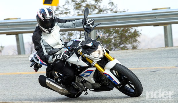The G 310 R is anything but boring. You can't see it, but I'm grinning inside my helmet.