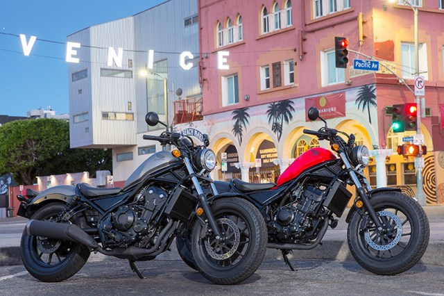 2017 Honda Rebel 500 and Rebel 300