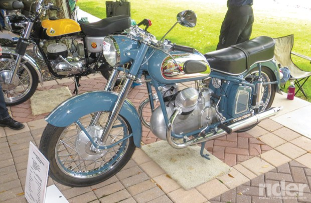 Best European Marque was awarded to Jimmy Sabino's 1954 Victoria Bergmeister V35S. Victoria was a bicycle manufacturer in Nürnberg, Germany, that made motorcycles from about 1901 until 1966.