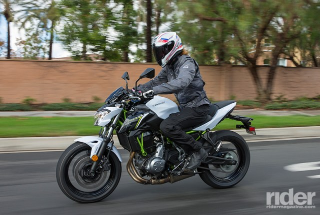 The 2017 Kawasaki Z650 is an all-new machine, featuring a lightweight, high-tensile steel trellis frame, a revamped 649cc parallel-twin engine and sporty, yet comfortable ergonomics. (Photos: Kevin Wing)