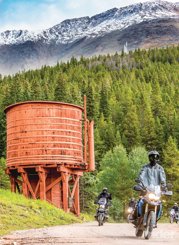 When gold and silver mines were active around Boreas Pass, long before the age of big trucks, a railroad was put in to carry the ore, and the steam engines needed a lot of water.