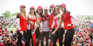The famous Ducati Fashion Models at Ducati Island.