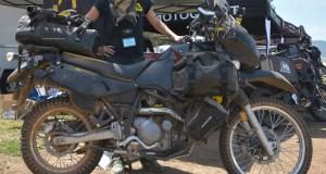 Farkled-out Kawasaki KLR650.