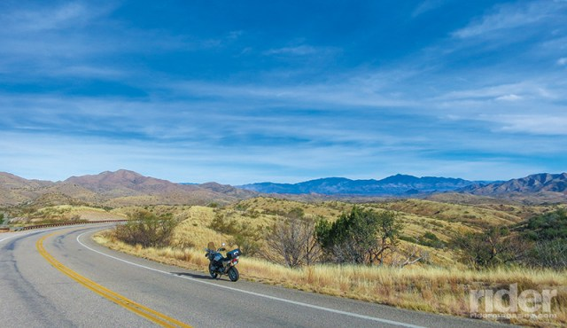 The long, sweeping curves and expansive views in the Arizona wine region offer up grin-inspiring riding
