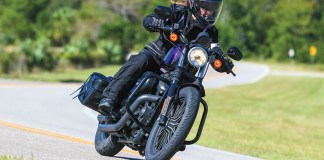 Bridgestone Battlecruise H50 tires on a Harley-Davidson Sportster. Photo by Brian J. Nelson.