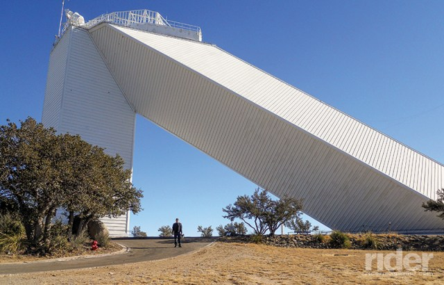 Once atop the mountain, the white-washed observatory structures are massive and intriguing.