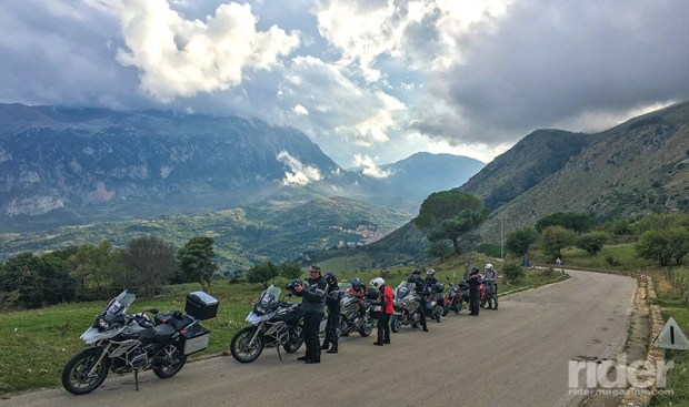 """This was towards the end of our """"rest"""" day ride near Cefalù, a scenic romp through the mountains on parts of the legendary Targa Florio road racing course."""