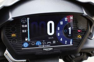 2017 Triumph Street Triple RS instrument panel