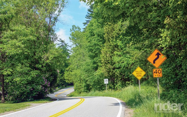 Winding roads through dense forests spell fun for sport-touring riders. (Photos by the author)