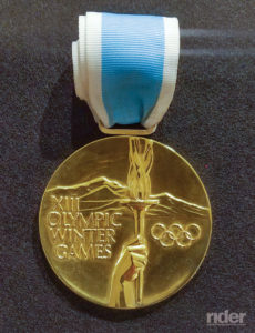 Gold medal from the 1980 Winter Olympics.