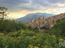 This is Caccamo, founded around 1093, when the Normans decided to build the castle you see in the distance on a rocky bluff overlooking a deep gorge. It's just one of the many villages we rode through, usually on narrow, winding, cobblestoned streets, and often with stops for espresso. (Photos by the author)