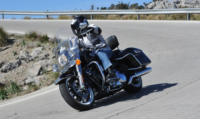 Testing the ContiLegends on a Harley-Davidson Road King. (Photos courtesy of Continental)
