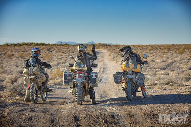 Riders on the Nevada BDR.