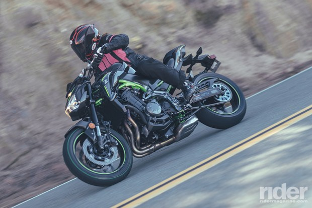 The Z900 is deceptively fast, thanks to its smoothly revving engine and stiff, well-sorted chassis. Despite its quickness, it never felt out of sorts or fidgety.