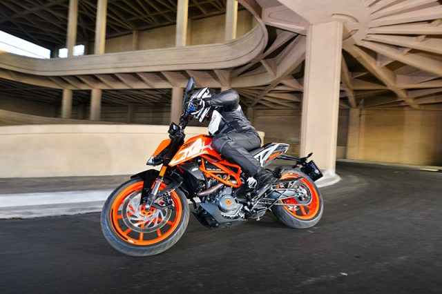 KTM 390 Duke Lingotto spiral ramp