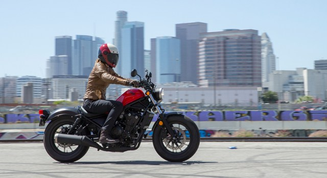 The 2017 Honda Rebel 500 was built for the urban jungle, with soft suspension, light weight and ripe-for-customization style. (Photos by Kevin Wing)
