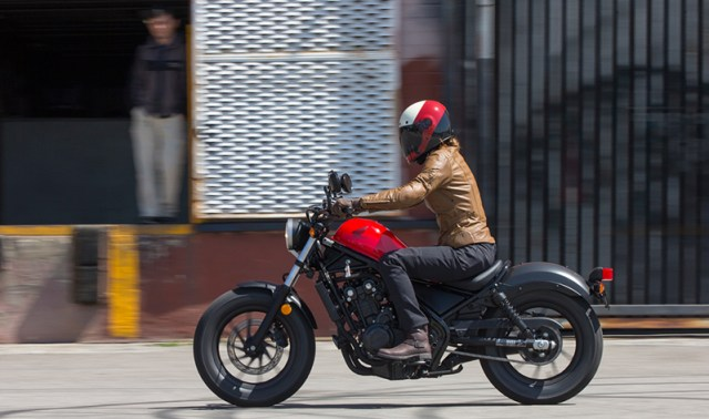 The Rebel is surprisingly comfortable for such a small motorcycle. Narrow handlebars make full-lock U-turns easy, and the scooped solo saddle is comfortable enough for a full day's ride around town.