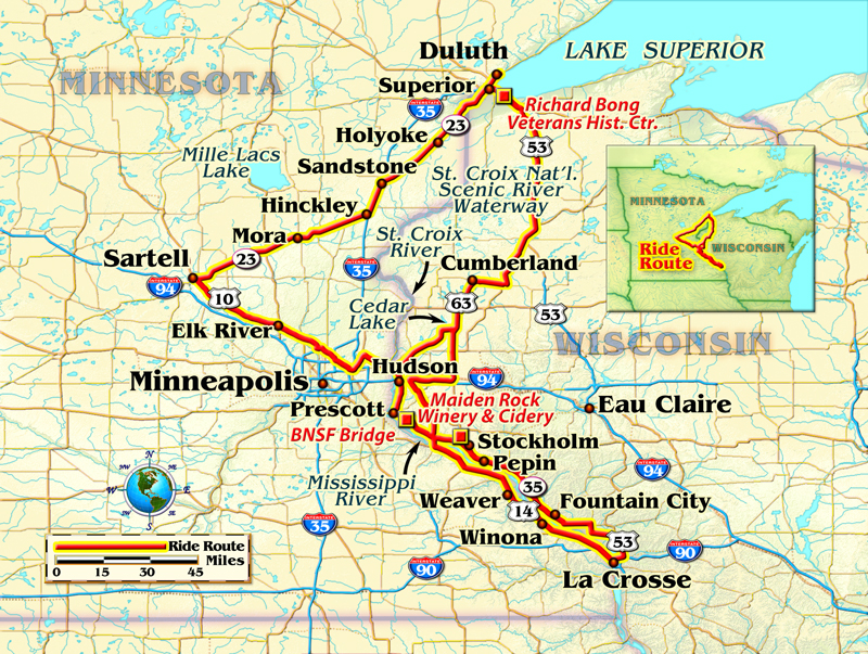 A Meandering Motorcycle Ride In Minnesota Rider Magazine - Map of minnesota and wisconsin